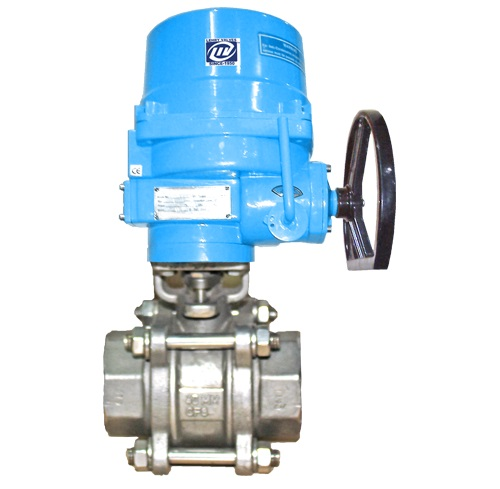 2 Way Ball Valve Electrical Actuator Operated