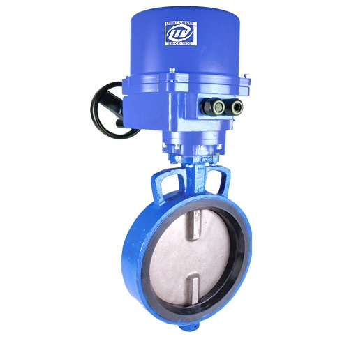 Wafer Type Butterfly Valve Electrical Actuator Operated