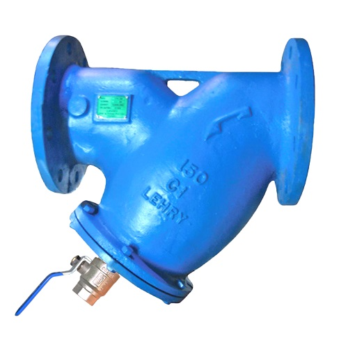 Y-TYPE STRAINER WITH DRAIN VALVE